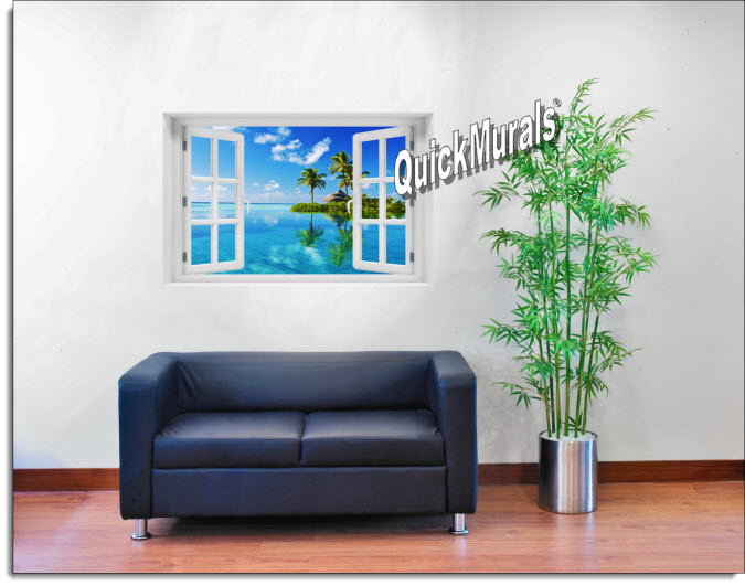 Oasis Instant Window Mural roomsetting