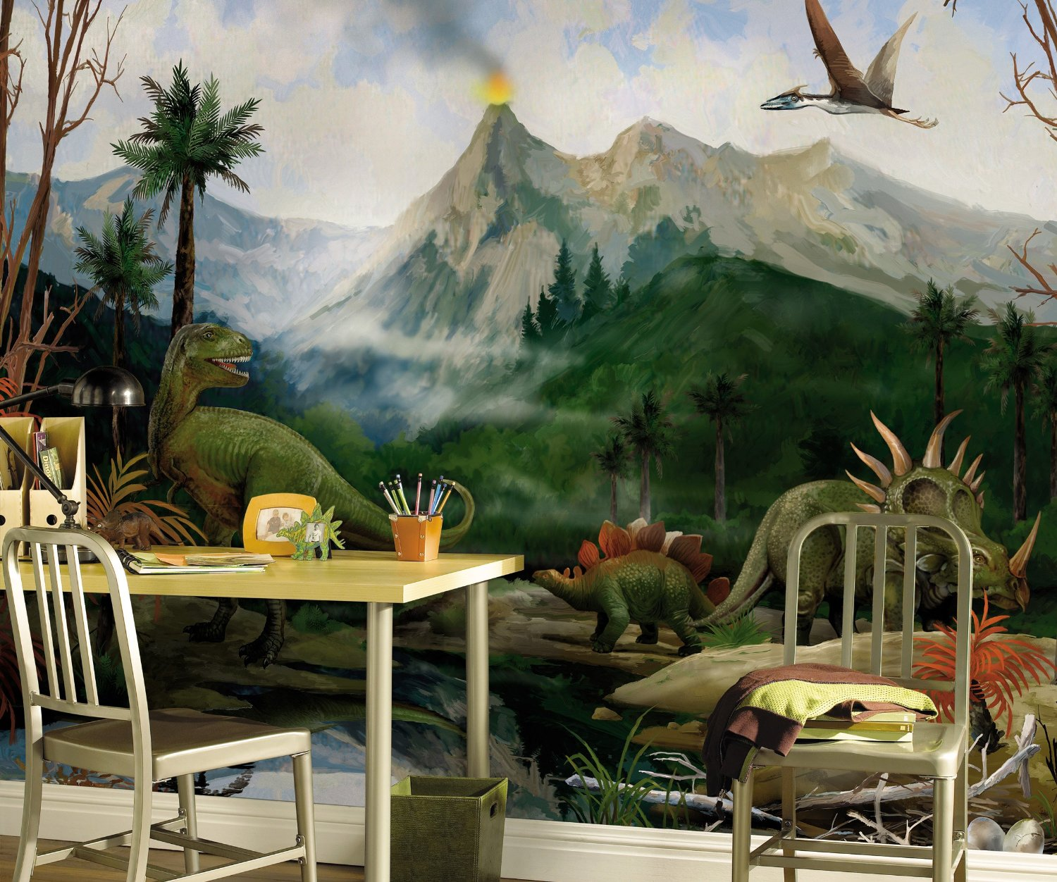 Dinosaur Wall Mural by Candice Olsen ROOMSETTING
