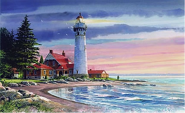 Northern Lighthouse Wall Mural
