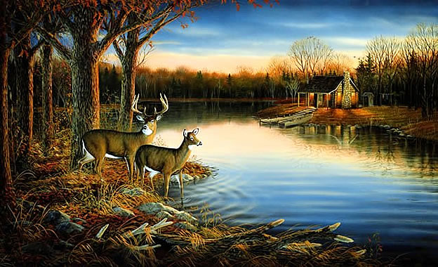 Tranquil Evening Wall Mural
